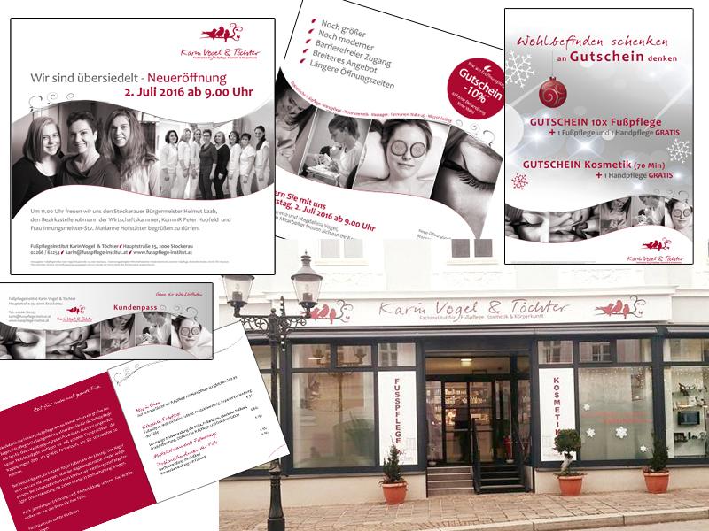 Printproduktionen Fusspflege Vogel Werbeagentur Design Grafiker