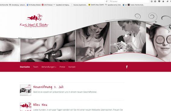 Fusspflege Karin Vogel Website Wordpress SEO Woocommerce