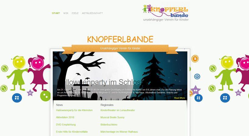 Knopferlbande Werbeagentur Website Homepage erstellen lassen Webdesign Agentur Wordpress SEO Woocommerce