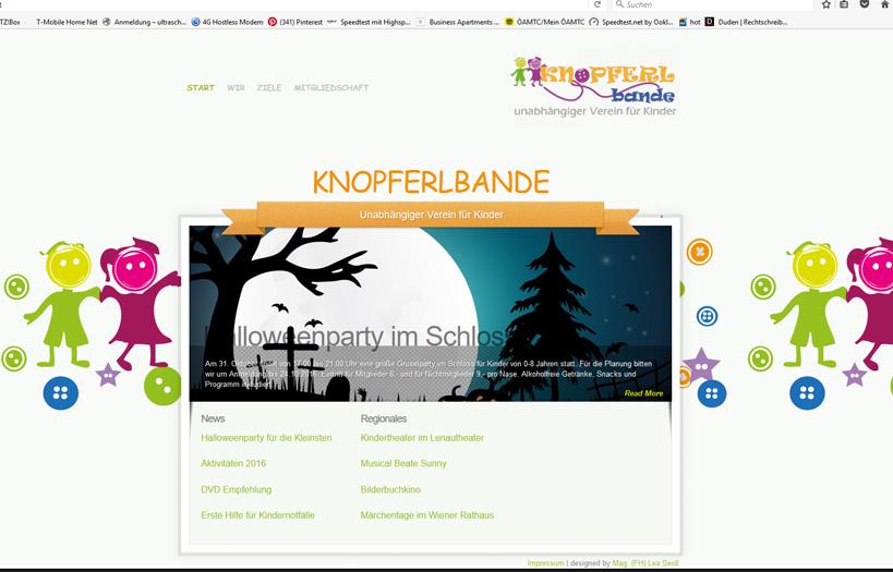 Knopferlbande Website