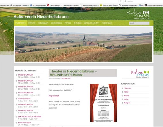 Kulturverein Werbeagentur Website Homepage erstellen lassen Webdesign Agentur Wordpress SEO Woocommerce