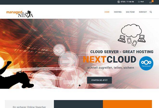 managed.ninja Werbeagentur Website Homepage erstellen lassen Webdesign Agentur Wordpress SEO Woocommerce