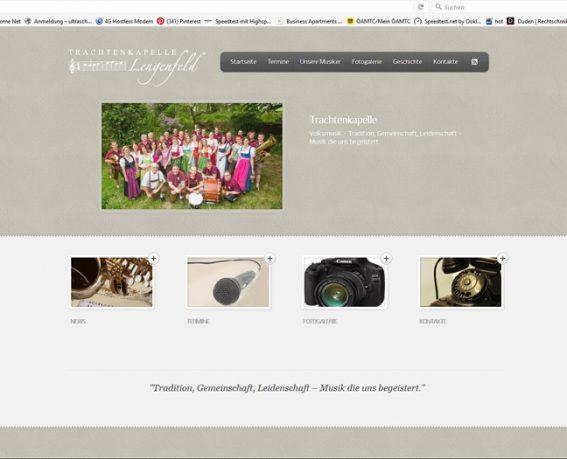 Trachtenkapelle Werbeagentur Website Homepage erstellen lassen Webdesign Agentur Wordpress SEO Woocommerce