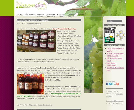 Website Traubengarten Werbeagentur Website Homepage erstellen lassen Webdesign Agentur Wordpress SEO Woocommerce