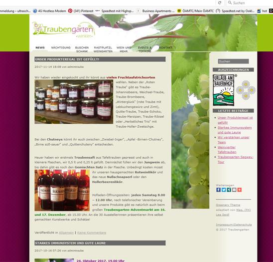 Website Traubengarten
