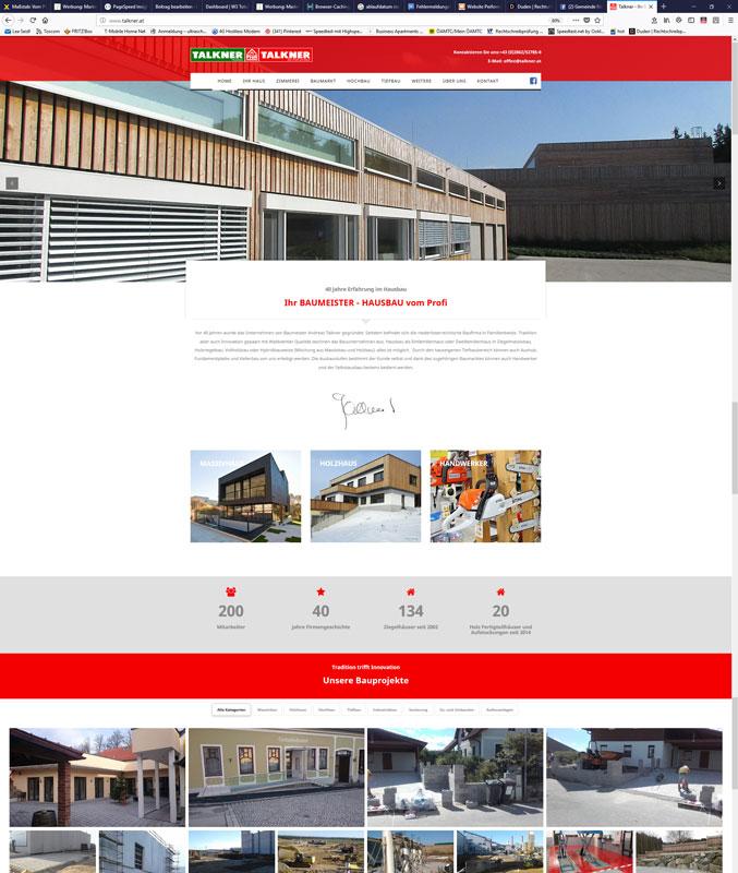 Talkner Waldviertel Niederösterreich Website Homepage erstellen lassen Webdesign Agentur Wordpress SEO Woocommerce