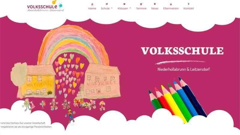 Schule Leitzersdorf Niederhollabrunn Website Homepage erstellen lassen Webdesign Agentur Wordpress SEO