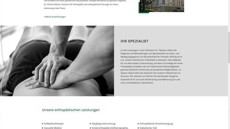Orthopäde Website Homepage erstellen lassen Webdesign Agentur