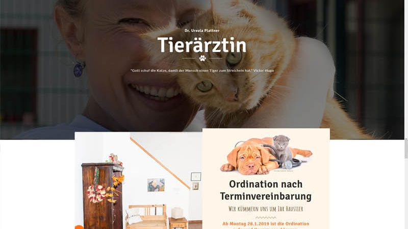 Webdesign Homepage Tierarzt Ursula Plattner