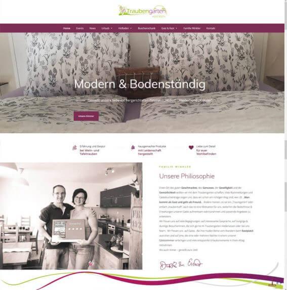 Traubengarten Winkler Website Homepage erstellen lassen Webdesign Agentur Wordpress SEO
