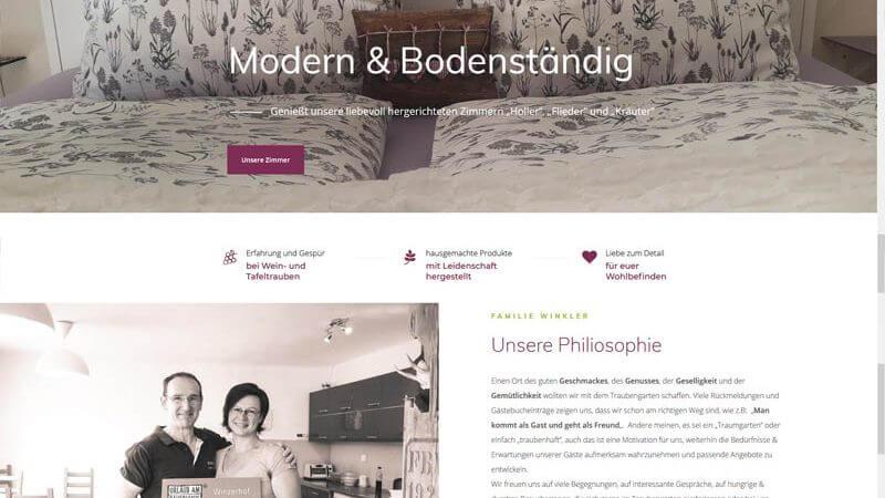 Traubengarten Website Homepage erstellen lassen Webdesign Agentur